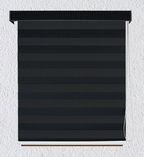 Persiana Enrollable Sheer Screen Gris Oscura con Cenefa